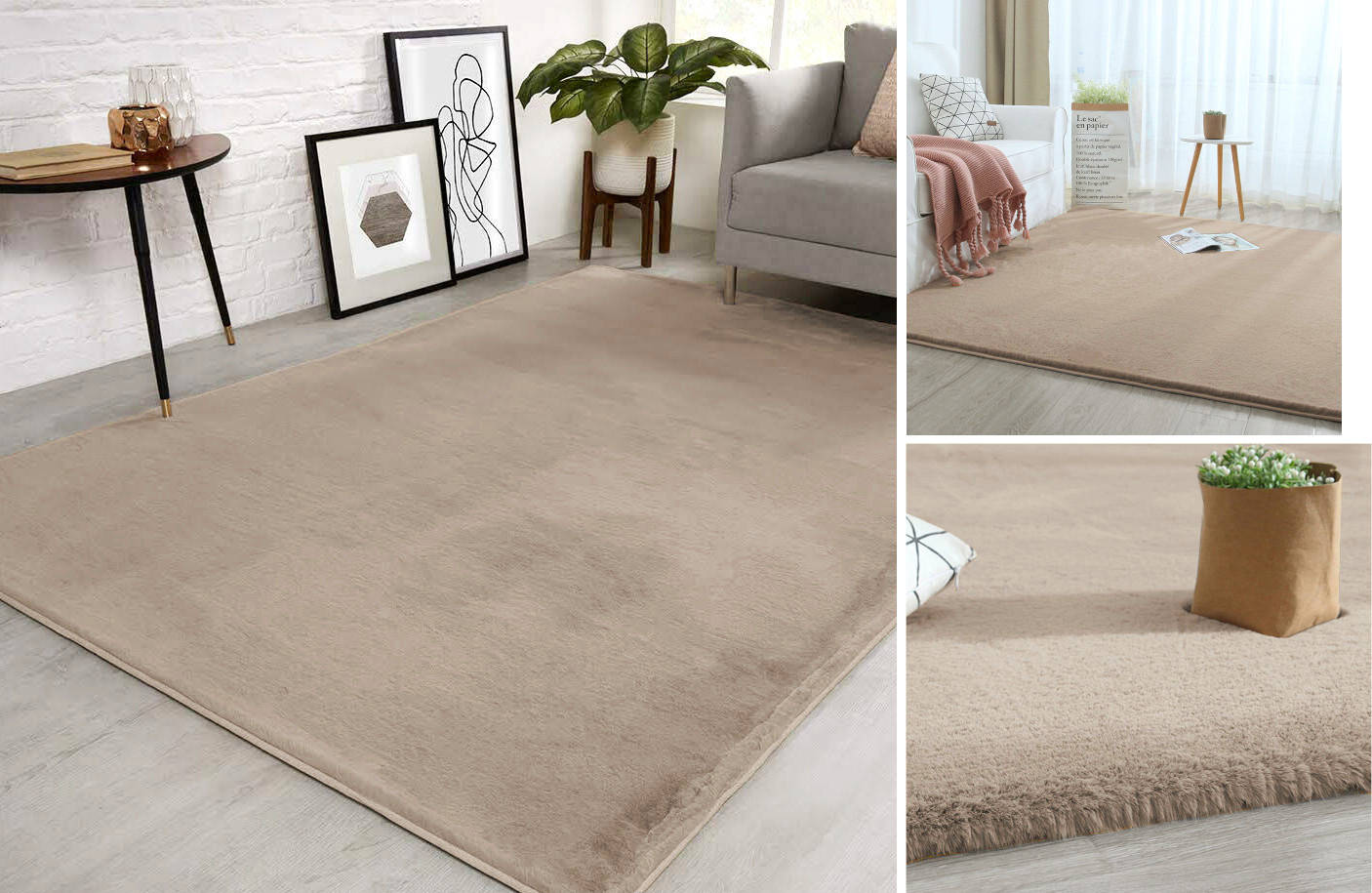 Dywan High Shaggy Pure Rabbit Taupe | Dywany  Dywany