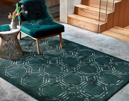 Dywan Asiatic Contemporary Design - NEXUS OCTAGON Petrol