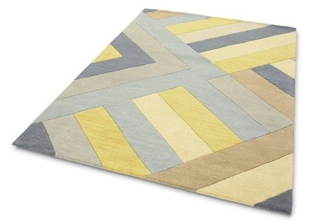 Dywan Asiatic Contemporary Design - REEF RF02 BIG ZIG OCHRE GREY