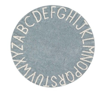 Dywan Lorena Canals  - ROUND ABC VINTAGE Blue-Natural